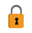 safety key lock vector image