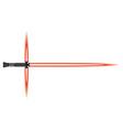 Light sword Futuristic melee sci fi Weapon cosmic vector image