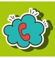 telephone call cloud speech vector image