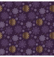 Christmas snowflakes seamless pattern violet color vector image