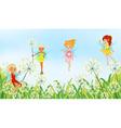 Fairies in the garden vector image