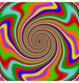 Design multicolor swirl rotation background vector image