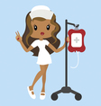 Cartoon nurse character with dropper vector image