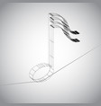 3d note on a wire vector image