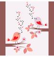 cute birds singing seamless vector image vector image