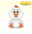 Cute Cartoon Chicken vector image vector image