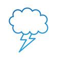 cartoon lightning bolt and cloud weather vector image
