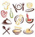 Cook cooking set vector image