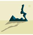 desaturated desert landscape vector image