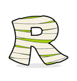 Letter R Monster zombie Alphabetical icon medical vector image