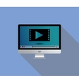 live stream streaming video use monitor television vector image