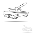 stylized tank vector image