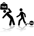 Tax burden vector image