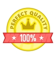Perfect quality label icon cartoon style vector image