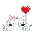 Dogs couple in love vector image vector image