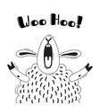 with joyful sheep who shouts - woo vector image