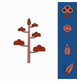 collection of icons and environmental nature vector image vector image
