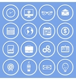 Business Paper Icons vector image