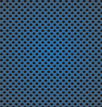 blue circle perforated carbon speaker grill vector image