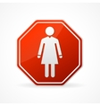 Sign no woman on white background vector image vector image