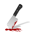 big knife with blood vector image