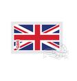 britain flag old postage stamp vector image