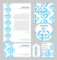 Business layout template vector image