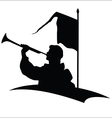 Trumpeter silhouette vector image