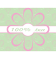 flower and ribbon background vector image