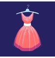 fashionable dress vector image