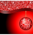 abstract red disco ball vector image