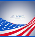 american wave flag background vector image