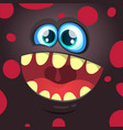 cartoon funny monster black face vector image