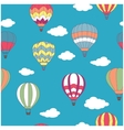 Colored hot air balloons seamless pattern vector image