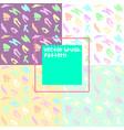 doodle brush pattern background set vector image