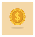 flat icon dollar coin vector image