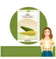 pack of squash seeds icon vector image