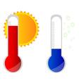 Temperature icons vector image