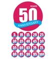 Template Logo Anniversary Set vector image