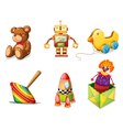 Various toys vector image