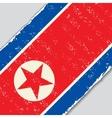 North Korean grunge flag vector image