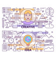 set of modern thin line creative idea vector image vector image
