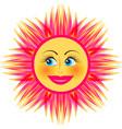 bright smiling sun vector image
