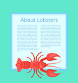 about lobsters on azure color