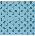 Seamless patterns navy anchors and steering wheel vector image