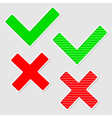 Set of check marks Isolated vector image