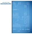 Blue building background vector image vector image