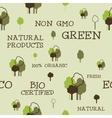 Eco and organic seamless pattern Non gmo design vector image