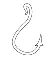 fishing hook vector image vector image