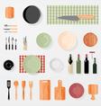 Kitchen bar restaurant design elements vector image